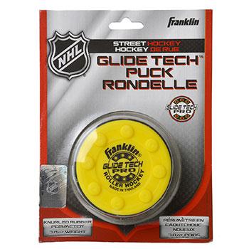 Franklin NHL Glide Tech Pro Puck für Strassen Gelb